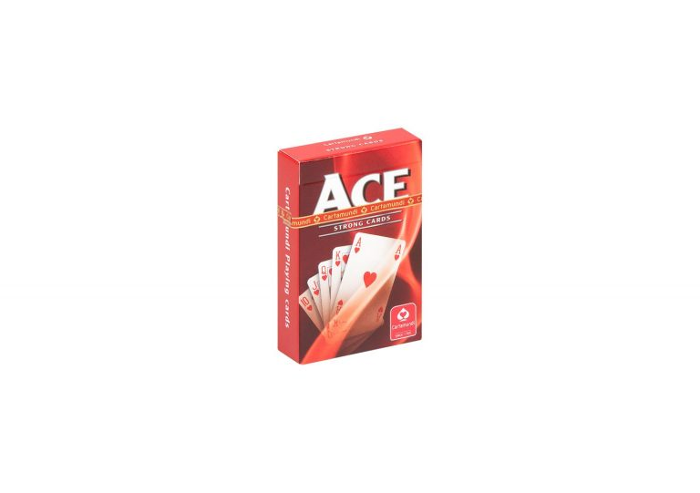 Ace Playing Cards by Cartamundi Red Version