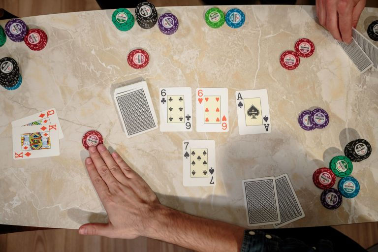 Copag PVC cards people playing at table
