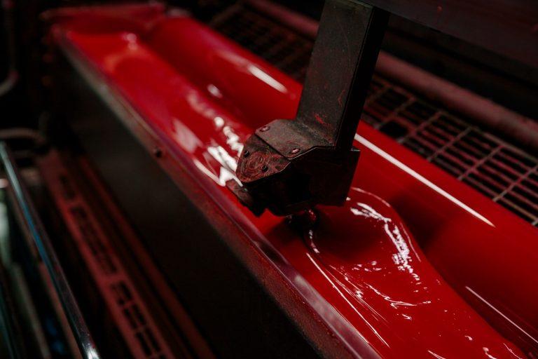 Red color ink printing Cartamundi