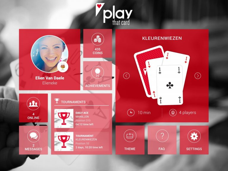 Play that Card App Screen