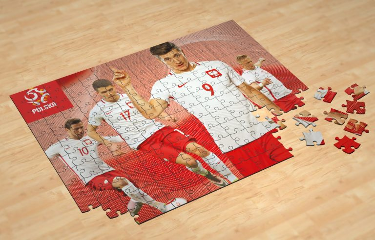 Puzzle with image of Polish Soccer team
