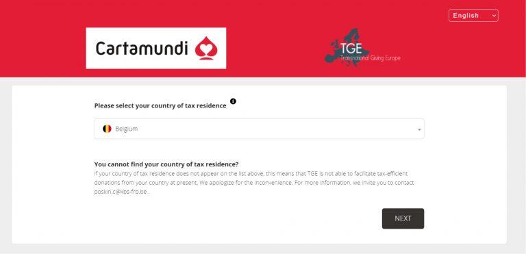 Online Donation Cartamundi Global Fund